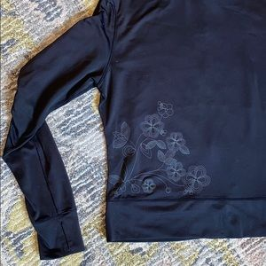 [2/$25] Lolë | Zip Up Jacket with Flower Detail